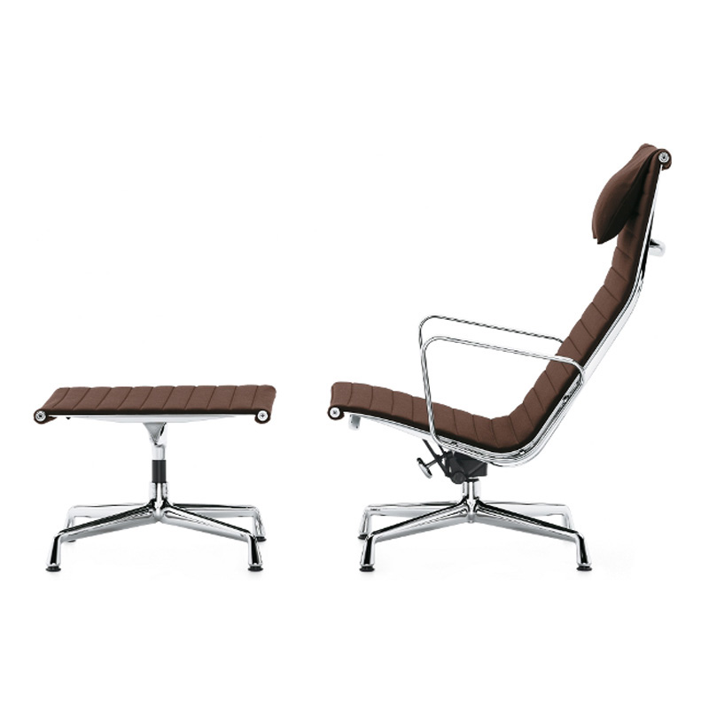 Charles Eames Aluminium Group Lounge Chair EA 124