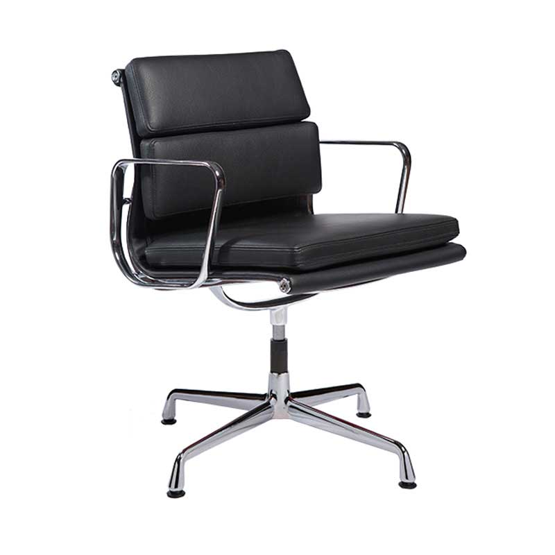 Eames alu chair aluminium group chair soft pad ea 208 for Bauhaus eames chair