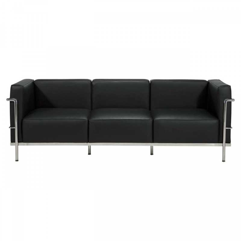 le corbusier lc3 sofa 3 sitzer bauhaus klassiker sofa. Black Bedroom Furniture Sets. Home Design Ideas
