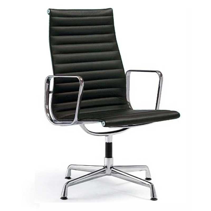 Eames alu chair ea 217 soft pad eames alu chair office for Vitra lounge chair nachbau