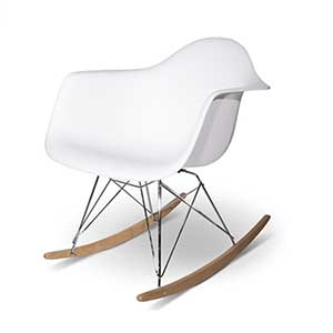 charles eames rar plastic rocking chair bauhaus chair. Black Bedroom Furniture Sets. Home Design Ideas