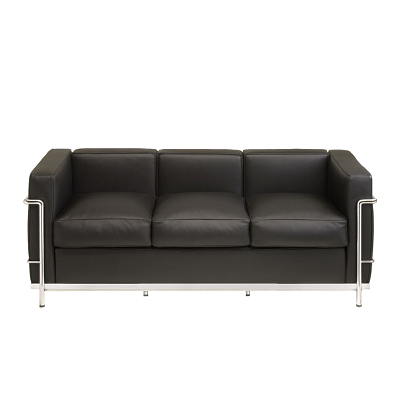 le corbusier lc2 sofa dreisitzer bauhaus klassiker m bel. Black Bedroom Furniture Sets. Home Design Ideas