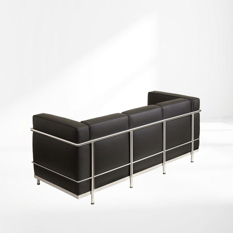le corbusier lc2 sofa dreisitzer bauhaus klassiker mbel. Black Bedroom Furniture Sets. Home Design Ideas