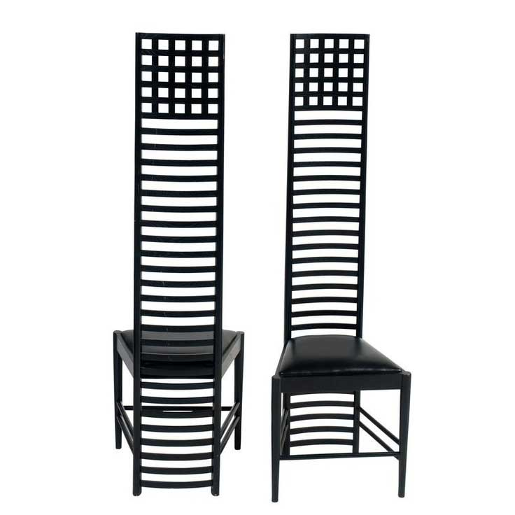 hill house mackintosh chair bauhaus designerstuhl. Black Bedroom Furniture Sets. Home Design Ideas