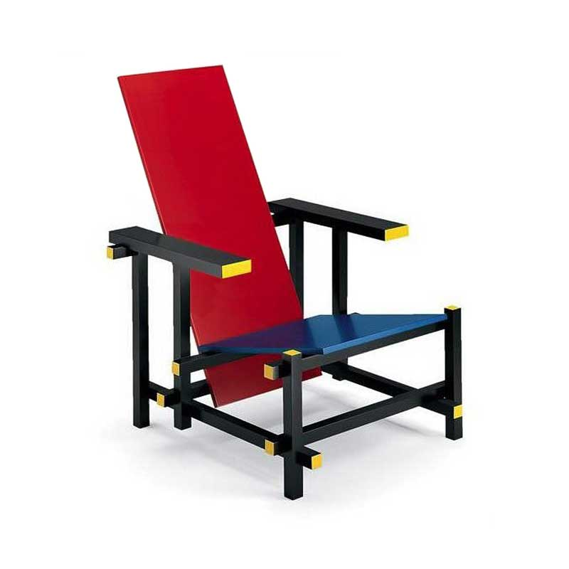 gerrit rietveld stuhl red blue rot blau stuhl klassiker. Black Bedroom Furniture Sets. Home Design Ideas