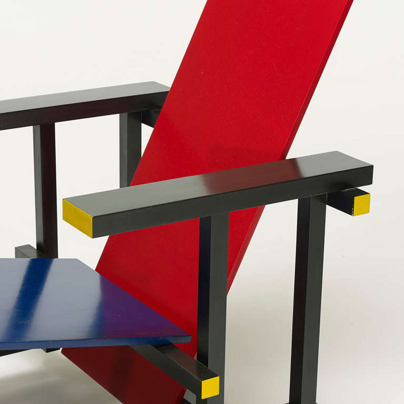 Gerrit Rietveld Red & Blue Chair Bauhaus Chair Design