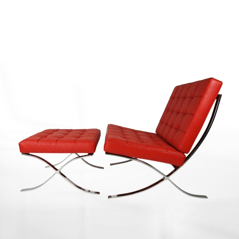 Mies van der rohe barcelona sessel bauhaus lounge chair for Bauhaus replica deutschland