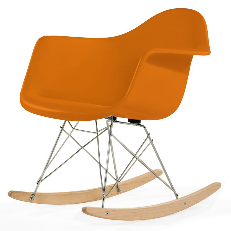 Charles Eames Rar Plastic Rocking Chair Designer Stuhl Aus Italien With  Rocking Chair Charles Eames